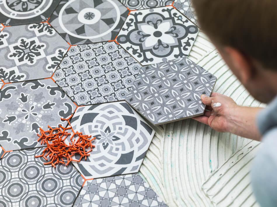 ceramic tile installation | Yuma Carpets