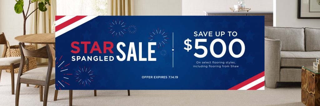 Star Spangled Sale | Yuma Carpets & Tile Inc
