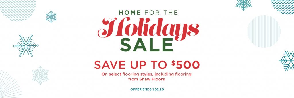 Home for the holidays sale | Yuma Carpets & Tile Inc