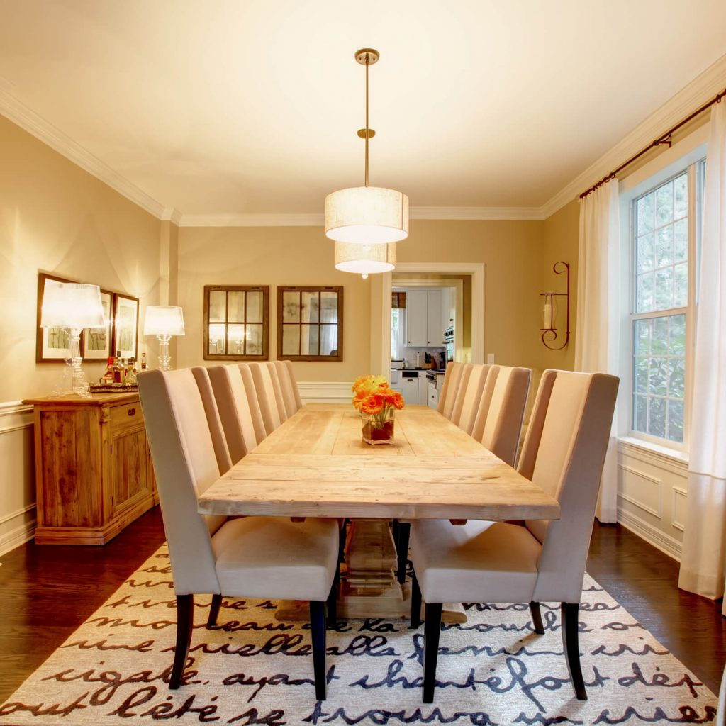 Dining room interior | Yuma Carpets