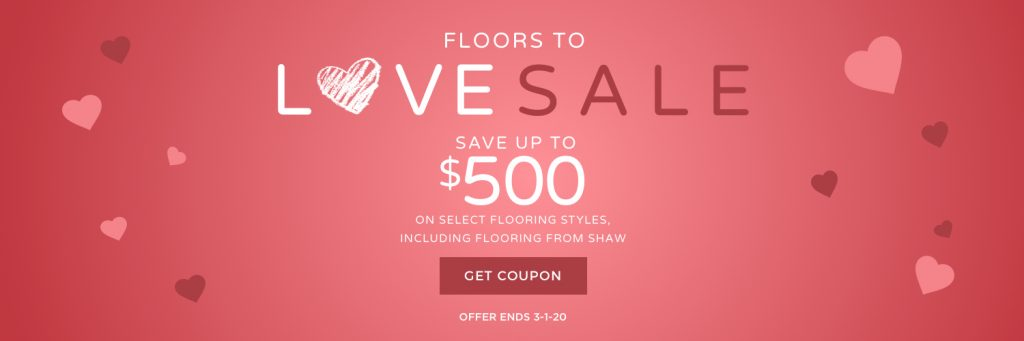 Floors to love sale banner| Yuma Carpets & Tile Inc